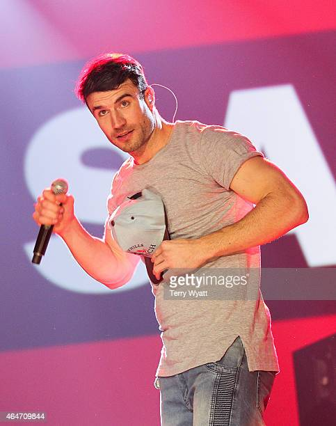 Recording Artist Sam Hunt performs during the New Faces of Country at CRS 2015 on February 27 2015 at the in Nashville Tennessee