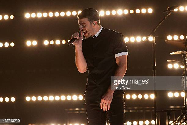 Recording artist Sam Hunt performs onstage at the 49th annual CMA Awards at the Bridgestone Arena on November 4 2015 in Nashville Tennessee