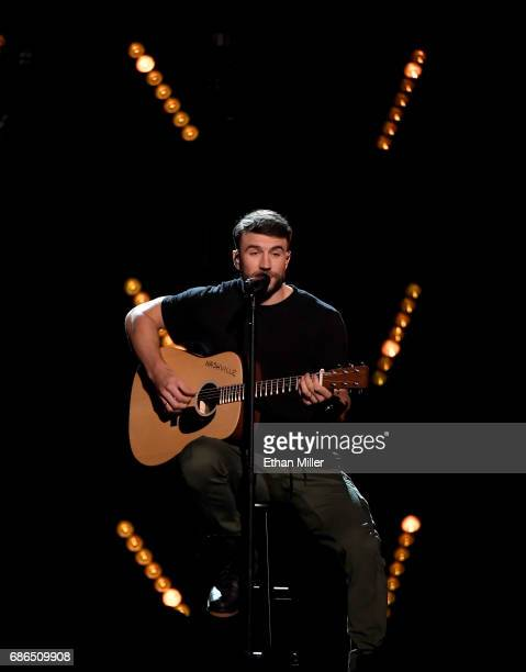 Recording artist Sam Hunt performs onstage during the 2017 Billboard Music Awards at TMobile Arena on May 21 2017 in Las Vegas Nevada