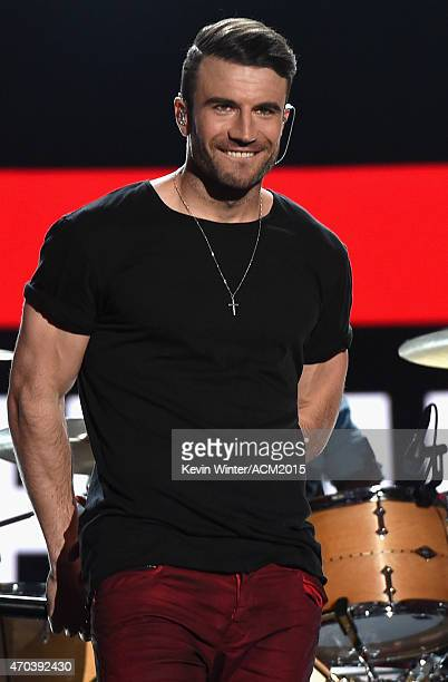 Recording artist Sam Hunt performs onstage during the 50th Academy of Country Music Awards at ATT Stadium on April 19 2015 in Arlington Texas