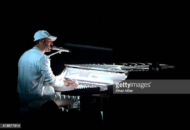 Recording artist Sam Hunt performs onstage during the 51st Academy of Country Music Awards at MGM Grand Garden Arena on April 3 2016 in Las Vegas...