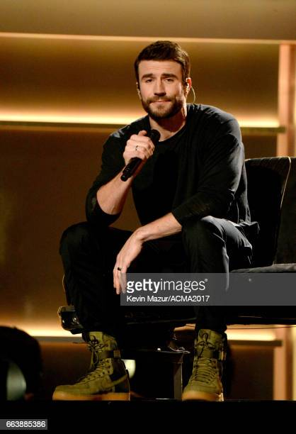 Recording artist Sam Hunt performs onstage during the 52nd Academy of Country Music Awards at TMobile Arena on April 2 2017 in Las Vegas Nevada