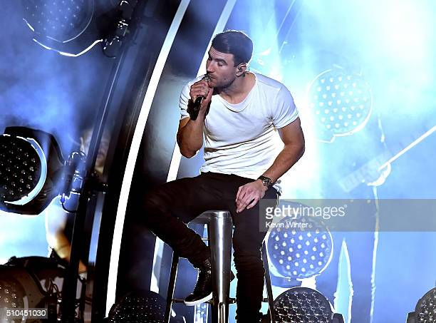Recording artist Sam Hunt performs onstage during The 58th GRAMMY Awards at Staples Center on February 15 2016 in Los Angeles California