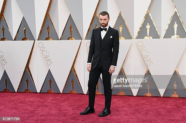 Recording artist Sam Smith attends the 88th Annual Academy Awards at Hollywood Highland Center on February 28 2016 in Hollywood California