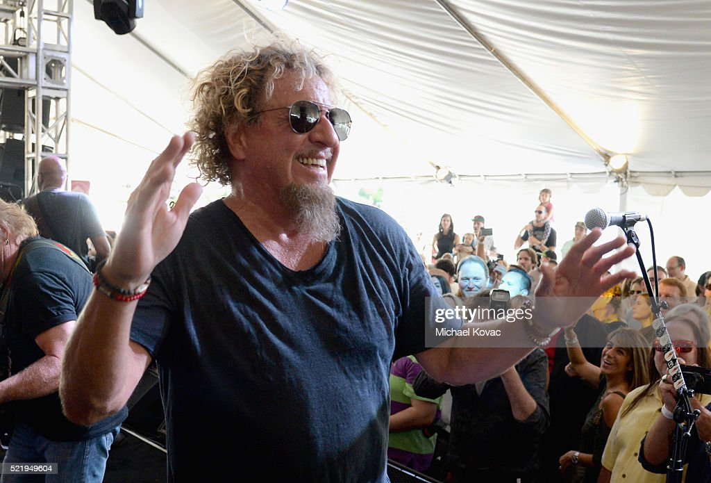 Recording artist Sammy Hagar performs onstage during the John Varvatos 13th Annual Stuart House benefit presented by Chrysler with Kids' Tent by Hasbro Studios at John Varvatos Boutique on April 17, 2016 in West Hollywood, California.