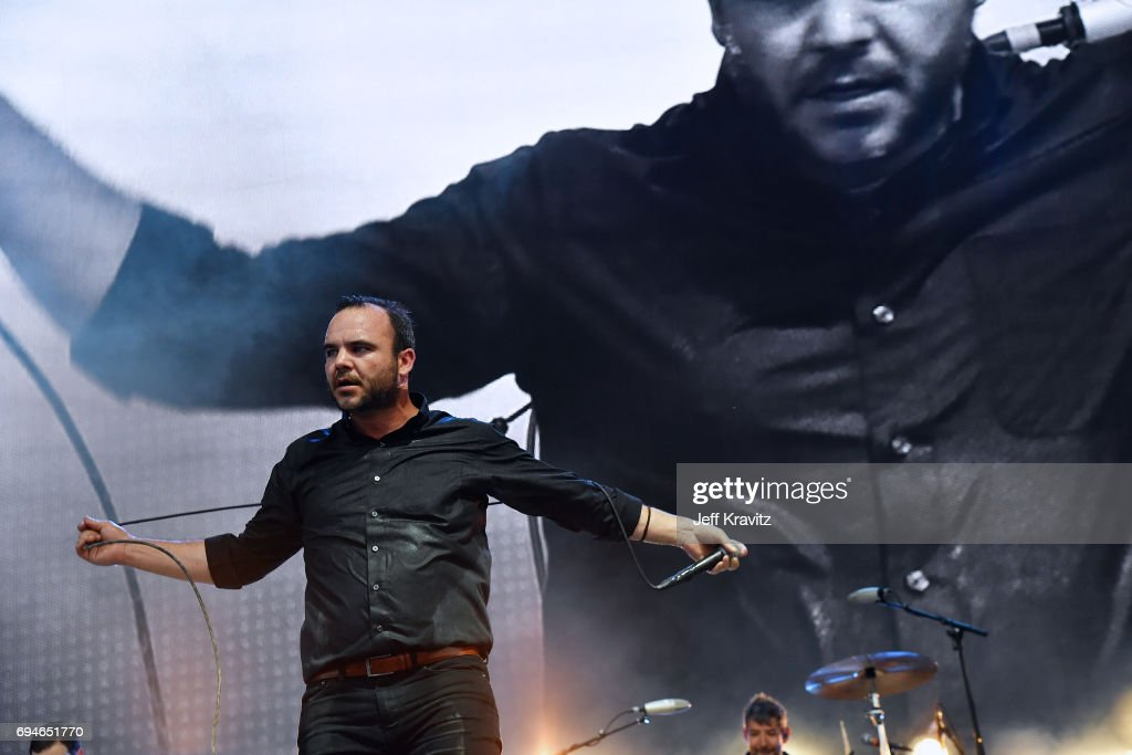Recording artist Samuel T. Herring of Future Islands performs onstage at What Stage during Day 3 of the 2017 Bonnaroo Arts And Music Festival on June 10, 2017 in Manchester, Tennessee.