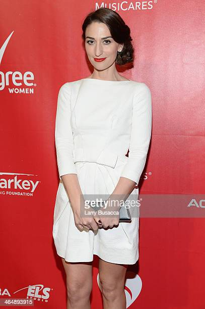 Recording artist Sara Bareilles attends 2014 MusiCares Person Of The Year Honoring Carole King at Los Angeles Convention Center on January 24 2014 in...