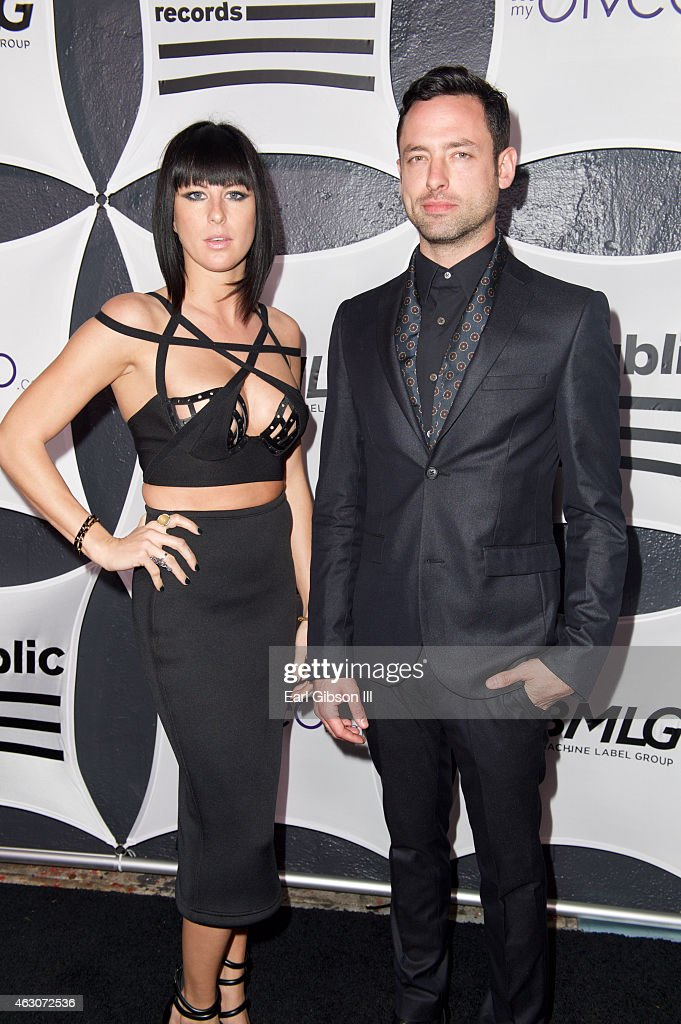 Recording Artist Sarah Barthel and Josh Carter of the group Phantogram attend the Republic Records And Big Machine Label Group's Grammy Celelbration...