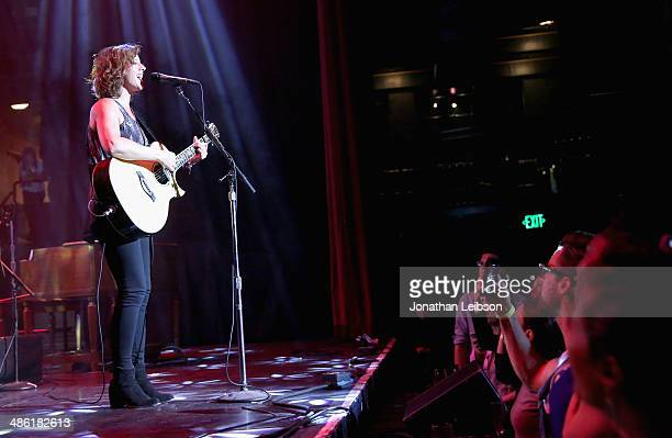 Recording artist Sarah McLachlan performs onstage at the 5th Annual ELLE Women in Music Celebration presented by CUSP by Neiman Marcus Hosted by ELLE...