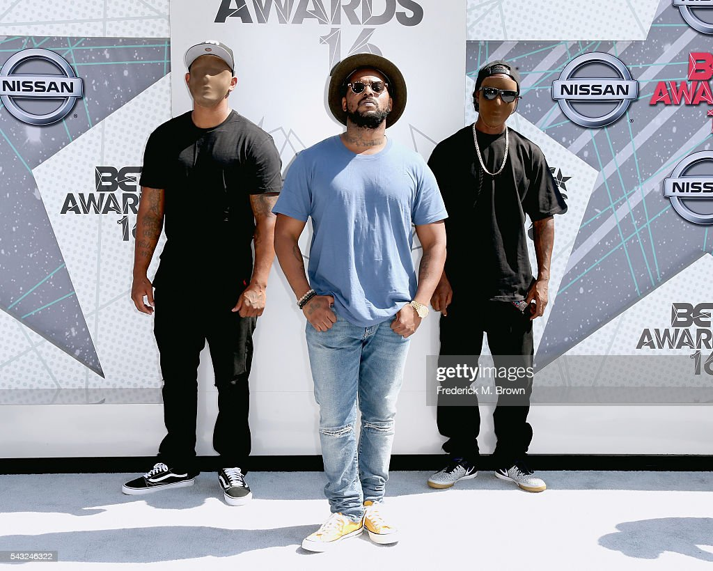 Recording artist ScHoolboy Q (C) attends the 2016 BET Awards at the Microsoft Theater on June 26, 2016 in Los Angeles, California.