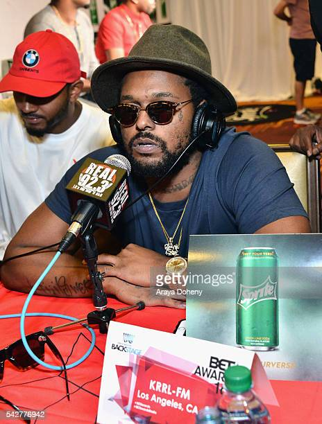Recording artist ScHoolboy Q attends the radio broadcast center during the 2016 BET Experience at the JW Marriott Los Angeles LA Live on June 24 2016...