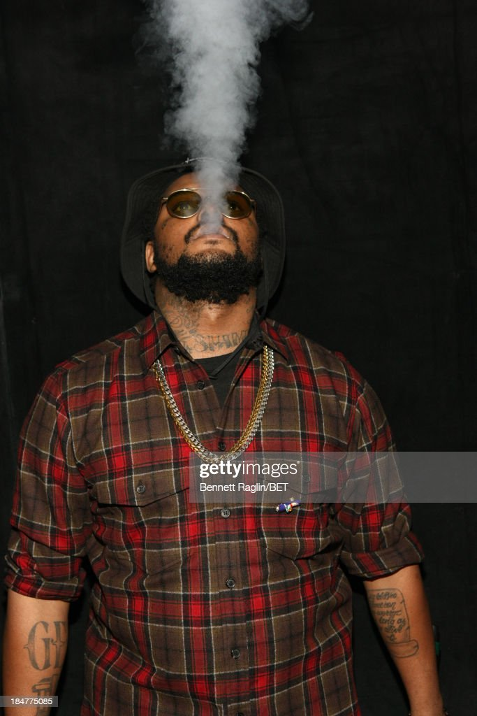 Recording artist <a gi-track='captionPersonalityLinkClicked' href=/galleries/search?phrase=Schoolboy+Q&family=editorial&specificpeople=9028279 ng-click='$event.stopPropagation()'>Schoolboy Q</a> visits 106 & Park at 106 & Park studio on October 15, 2013 in New York City.