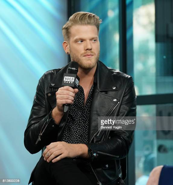 Recording artist Scott Hoying attends Build to discuss their album 'Future Friends' at Build Studio on July 11 2017 in New York City