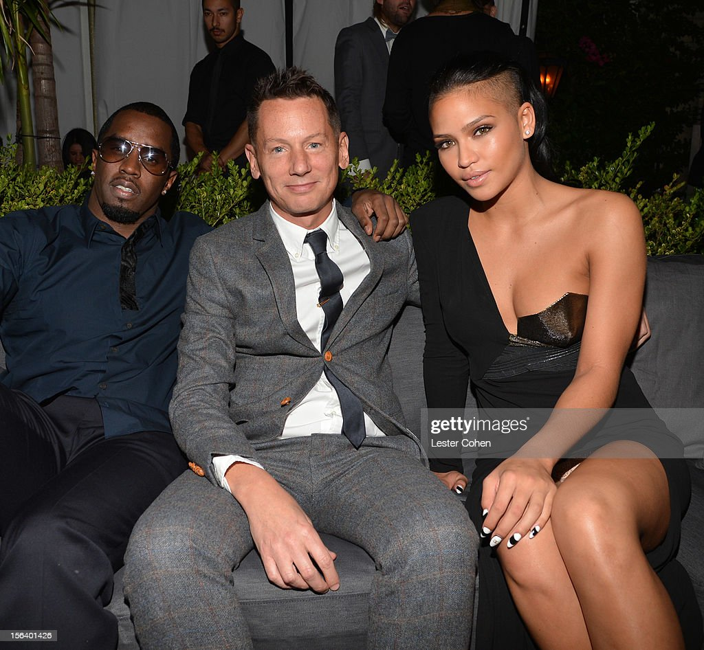 Recording artist Sean 'Diddy' Combs GQ editorinchief Jim Nelson and singer Cassie Ventura attend the GQ Men of the Year Party at Chateau Marmont on...