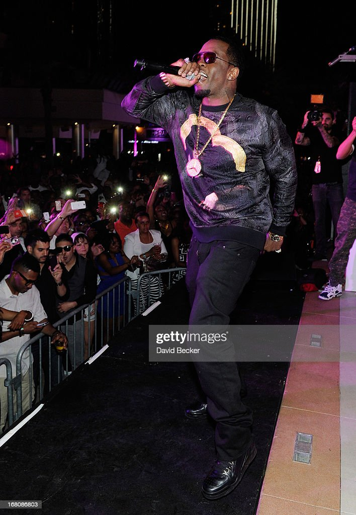Recording artist Sean 'Diddy' Combs performs during the Fight Night after party at the Palms Casino Resort on May 4, 2013 in Las Vegas, Nevada.