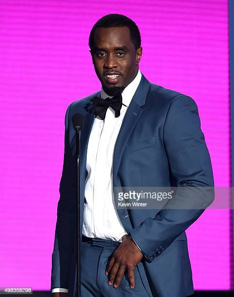 Recording artist Sean 'Diddy' Combs speaks onstage during the 2015 American Music Awards at Microsoft Theater on November 22 2015 in Los Angeles...