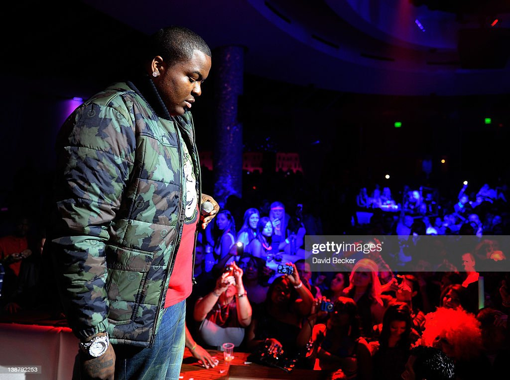 Recording artist Sean Kingston asks for a moment of silence to honor singer Whitney Houston before he performed at the RPM Nightclub at the Tropicana...