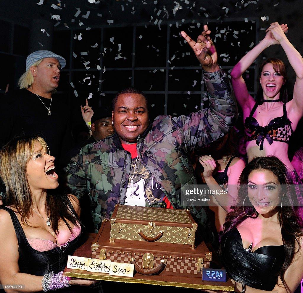 Recording artist Sean Kingston celebrates his birthday at the RPM Nightclub at the Tropicana Las Vegas on February 11 2012 in Las Vegas Nevada