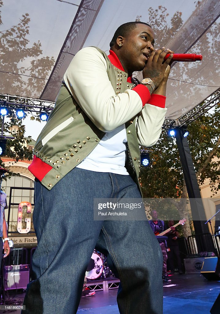 Recording Artist Sean Kingston performs live at the 2nd Annual Summer Concert Series at The Grove on July 11 2012 in Los Angeles California
