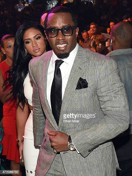 Recording artist Sean 'Puff Daddy' Combs and model Cassie Ventura arrive at 'Mayweather VS Pacquiao' presented by SHOWTIME PPV And HBO PPV at MGM...