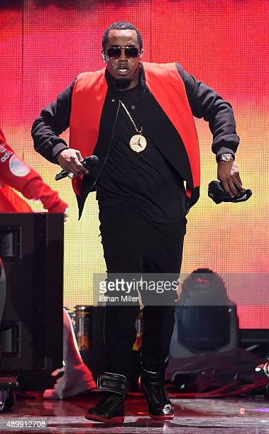 Recording artist Sean 'Puff Daddy' Combs performs at the 2015 iHeartRadio Music Festival at MGM Grand Garden Arena on September 19 2015 in Las Vegas...