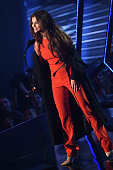 Recording artist Selena Gomez accepts the award for 'Biggest Triple Threat' onstage at the iHeartRadio Music Awards which broadcasted live on TBS TNT...