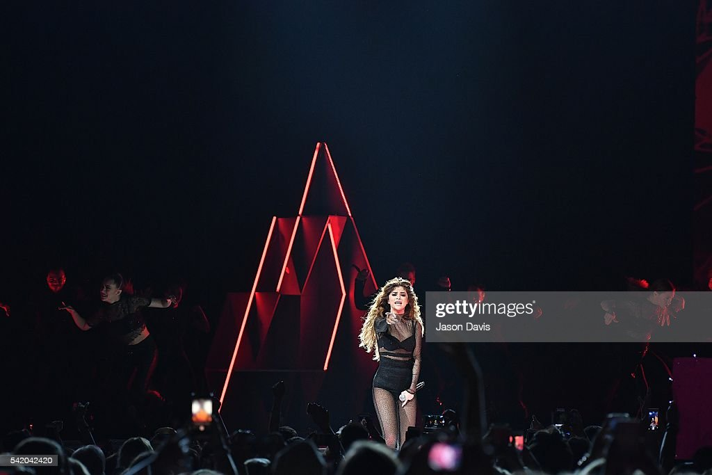 Recording Artist Selena Gomez performs during her Revival Tour at Bridgestone Arena on June 21 2016 in Nashville Tennessee