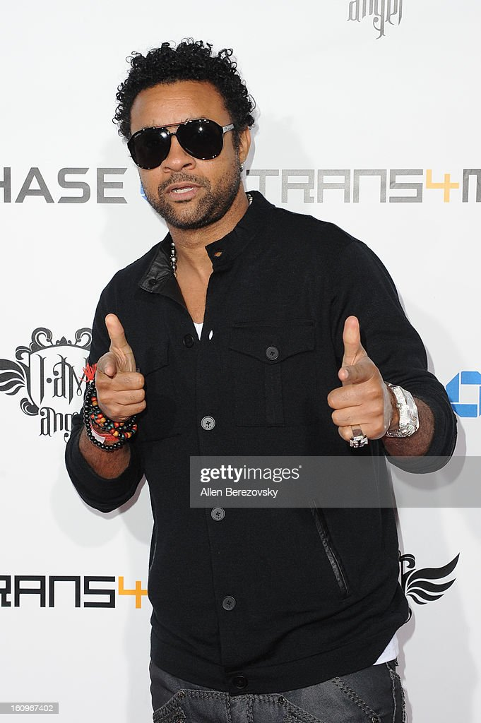 Recording artist <a gi-track='captionPersonalityLinkClicked' href=/galleries/search?phrase=Shaggy+-+Singer&family=editorial&specificpeople=210859 ng-click='$event.stopPropagation()'>Shaggy</a> arrives at will.i.am's Annual TRANS4M Concert Benefitting I.Am.Angel Foundation on February 7, 2013 in Hollywood, California.