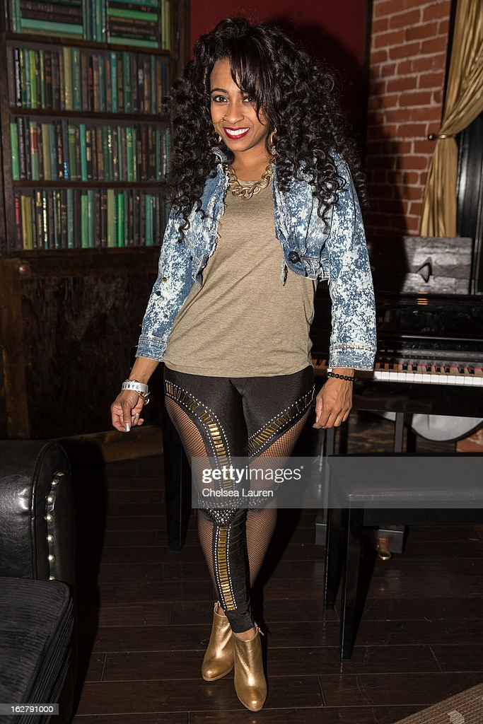 Recording artist Shanell poses backstage at the 'Love, Life & Reality' show at Federal Bar on February 26, 2013 in Hollywood, California.
