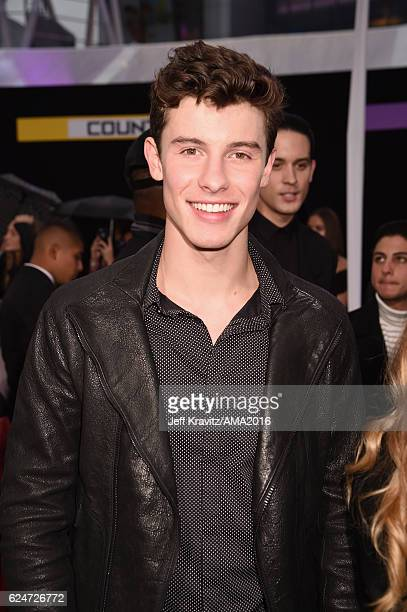 Recording artist Shawn Mendes attends the 2016 American Music Awards at Microsoft Theater on November 20 2016 in Los Angeles California