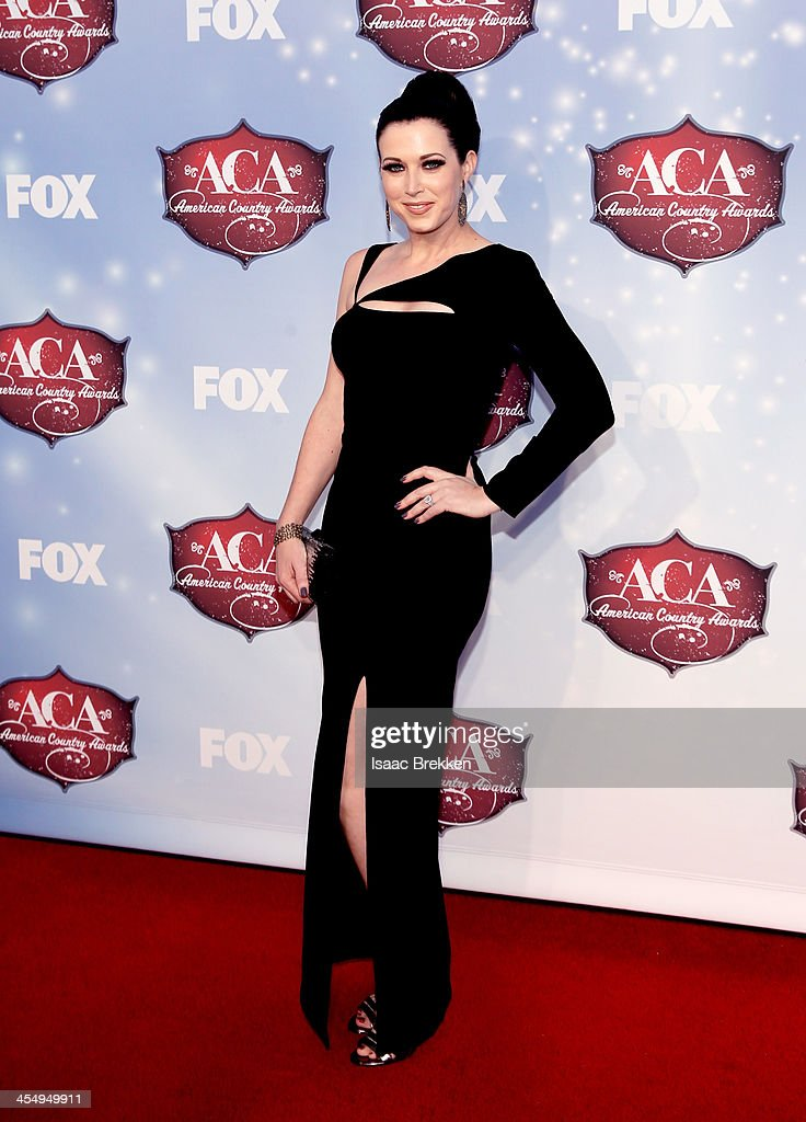 Recording artist Shawna Thompson of Thompson Square arrives at the American Country Awards 2013 at the Mandalay Bay Events Center on December 10 2013...