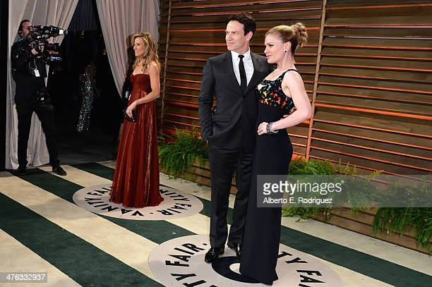 Recording artist Sheryl Crow actor Stephen Moyer and actress Anna Paquin attend the 2014 Vanity Fair Oscar Party hosted by Graydon Carter on March 2...