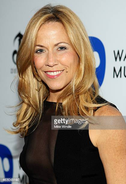 Recording artist Sheryl Crow attends the Warner Music Group annual Grammy celebration at Chateau Marmont on February 8 2015 in Los Angeles California