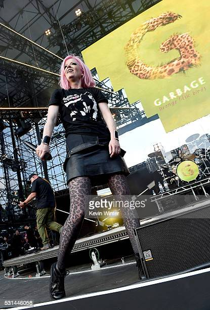 Recording artist Shirley Manson of music group Garbage performs onstage at KROQ Weenie Roast 2016 at Irvine Meadows Amphitheatre on May 14 2016 in...