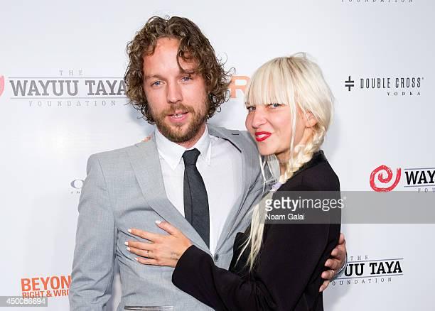 Recording Artist Sia and Erik Anders Lang attend the 2014 Wayuu Taya Gala Honoring Kimora Lee Simmons at Trump SoHo on June 4 2014 in New York City