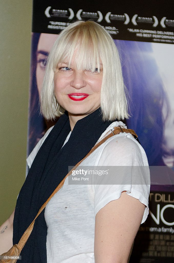 Recording Artist Sia attends the 'Any Day Now' premiere at Sunshine Landmark on December 3, 2012 in New York City.