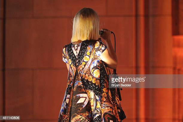 Recording artist Sia performs during Logo TV's 'Trailblazers' at the Cathedral of St John the Divine on June 23 2014 in New York City