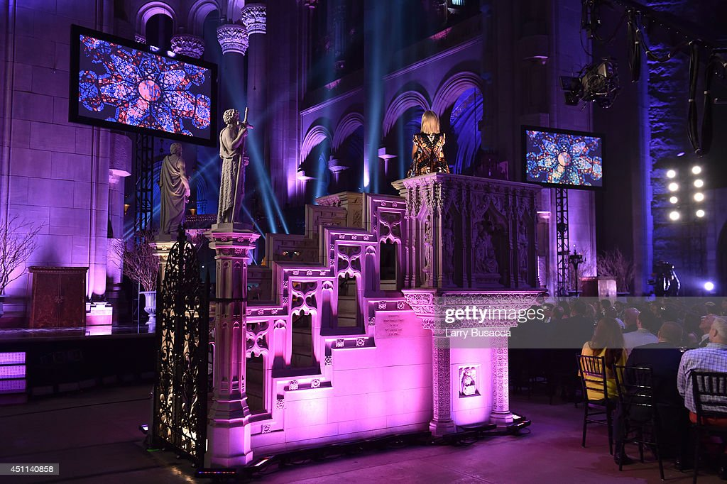 Recording artist Sia performs during Logo TV's 'Trailblazers' at the Cathedral of St. John the Divine on June 23, 2014 in New York City.