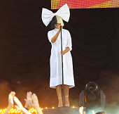 Recording artist Sia performs on ABC's 'Good Morning America' at SummerStage at Rumsey Playfield Central Park on July 22 2016 in New York City