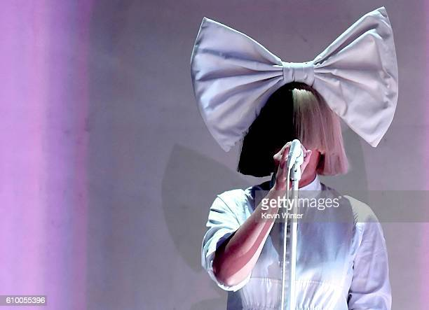 Recording artist Sia performs onstage at the 2016 iHeartRadio Music Festival at TMobile Arena on September 23 2016 in Las Vegas Nevada