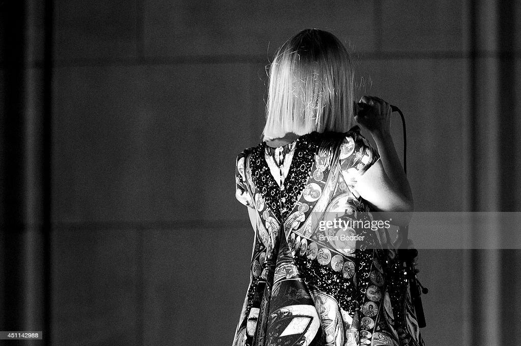 Recording artist Sia performs onstage during Logo TV's 'Trailblazers' at the Cathedral of St. John the Divine on June 23, 2014 in New York City.
