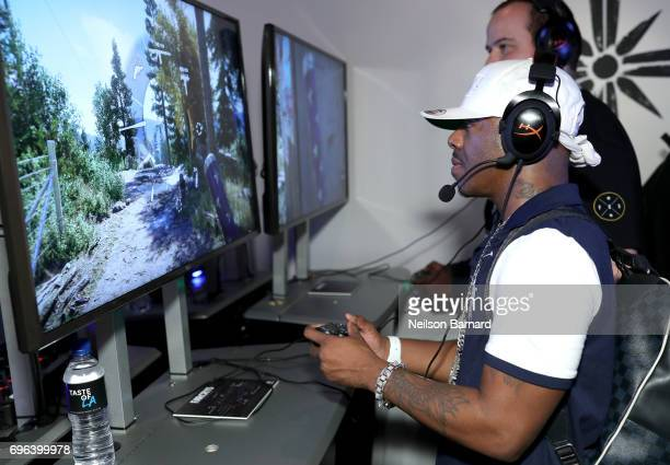 Recording artist SisQo plays Far Cry 5 during E3 2017 at Los Angeles Convention Center on June 15 2017 in Los Angeles California
