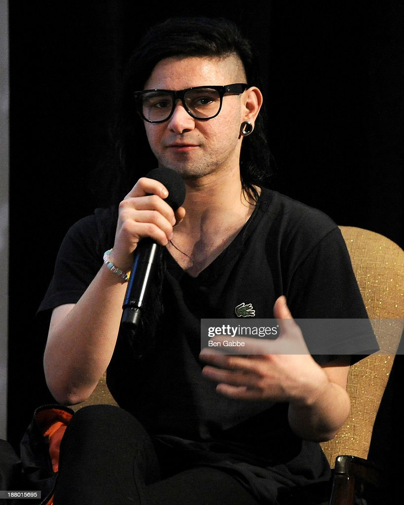 Recording artist <a gi-track='captionPersonalityLinkClicked' href=/galleries/search?phrase=Skrillex&family=editorial&specificpeople=7574565 ng-click='$event.stopPropagation()'>Skrillex</a> attends the 10th Anniversary Billboard Touring Conference & Awards at the Roosevelt Hotel on November 14, 2013 in New York City.