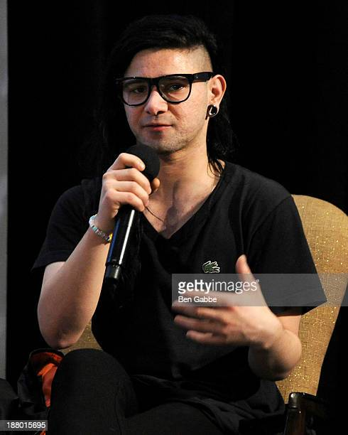 Recording artist Skrillex attends the 10th Anniversary Billboard Touring Conference Awards at the Roosevelt Hotel on November 14 2013 in New York City