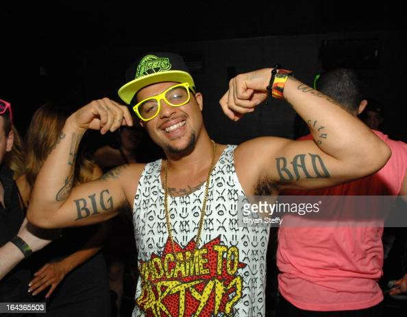 Recording artist SkyBlu of LMFAO appears at The Bank Nightclub at the Bellagio as he kicks off his 'Who Came to Party' residency on March 22 2013 in...