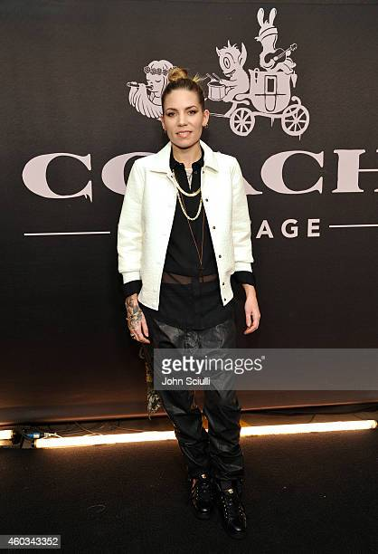 Recording artist Skylar Grey attends Coach Backstage Rodeo Drive on December 11 2014 in Beverly Hills California