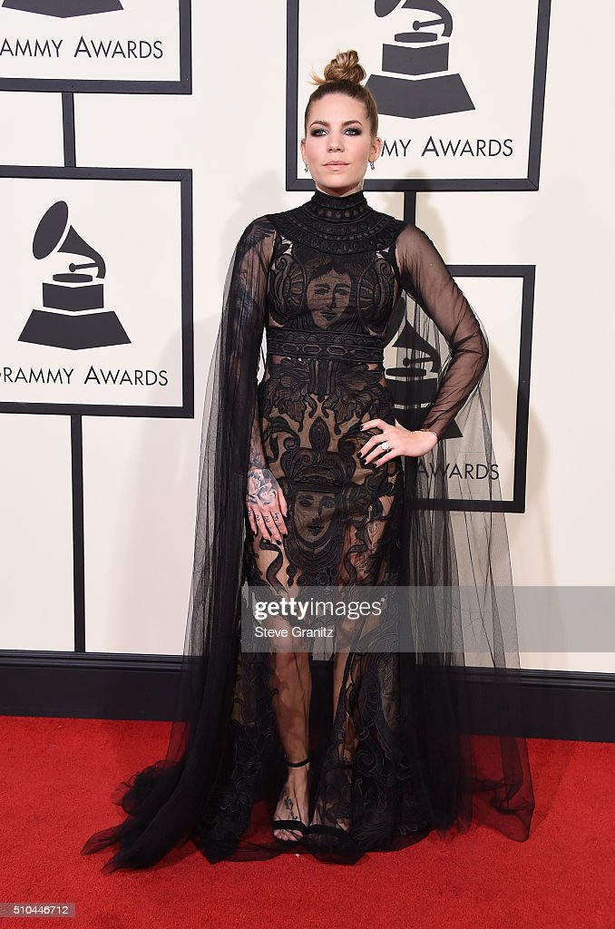 Recording artist Skylar Grey attends The 58th GRAMMY Awards at Staples Center on February 15, 2016 in Los Angeles, California.