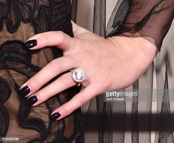 Recording artist Skylar Grey ring manicure and fashion details attends The 58th GRAMMY Awards at Staples Center on February 15 2016 in Los Angeles...