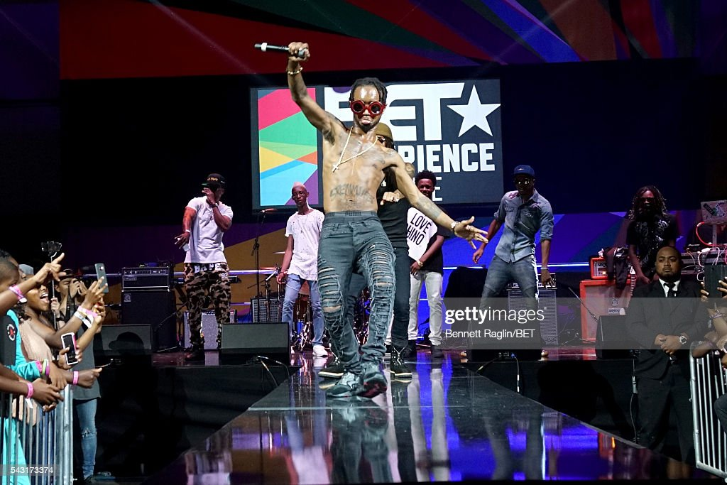 Recording artist <a gi-track='captionPersonalityLinkClicked' href=/galleries/search?phrase=Slim+Jimmy&family=editorial&specificpeople=12935151 ng-click='$event.stopPropagation()'>Slim Jimmy</a> of Rae Sremmurd performs onstage at the BET Awards Red Carpet Look-In Special during the 2016 BET Experience on June 26, 2016 in Los Angeles, California.