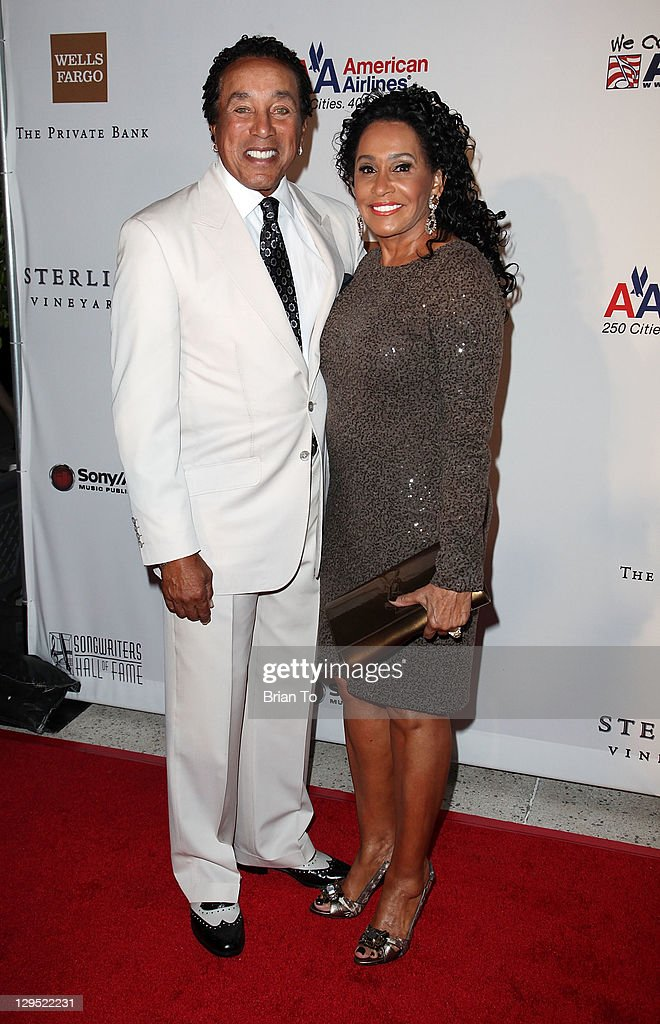 Recording artist Smokey Robinson (L) and wife Frances Robinson attend 'Love, Sweet Love' musical tribute to Hal David at Mark Taper Forum on October 17, 2011 in Los Angeles, California.